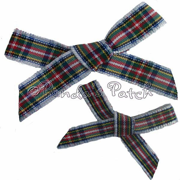 CAMPBELL TARTAN BOWS wrapping ribbon 10mm RIBBON